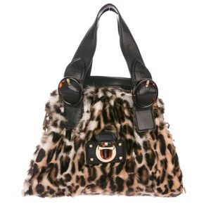RARE Marc Jacobs Couture Fur & Leather Chain Bag